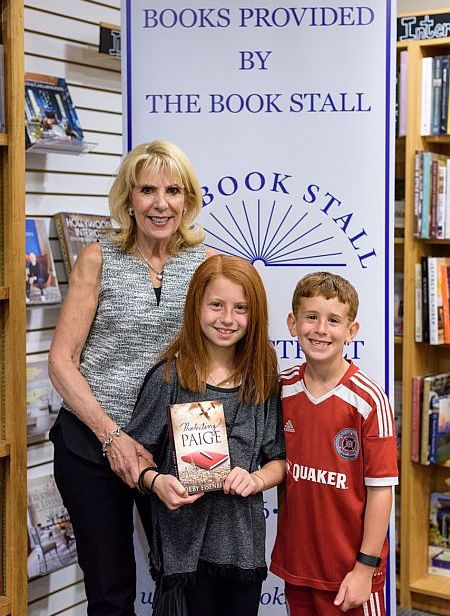 Deby with two young readers at Book Signing at Book Stall, Winnetka, IL
